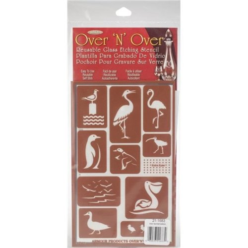 Armour Products GE21-1683 5 x 8 in. Over N Over Reusable Stencils - Water Birds