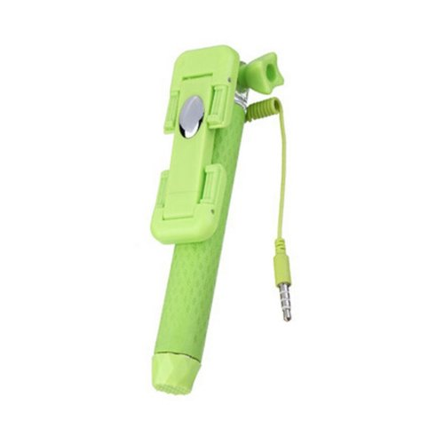 Portable Mini Self-portrait Stabilizer Holder Handheld Monopod GREEN