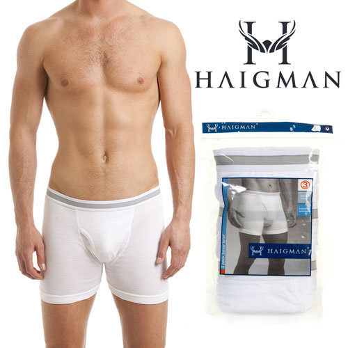 HAIGMAN DESIGNER  BOXERS 100% COTTON 3 PAIR PACK