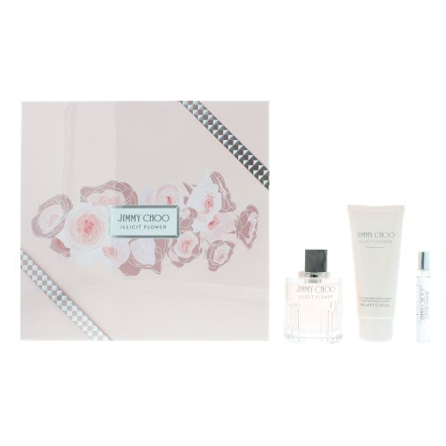 Jimmy Choo Illicit Flower Eau de Toilette 100ml & Body Lotion Gift Set For Her