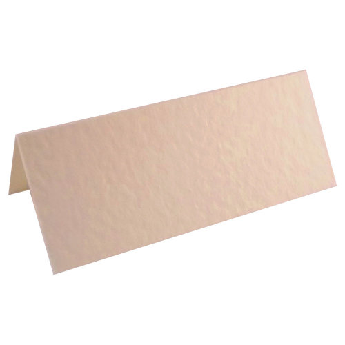 100 X Hammered Ivory Place Cards For Weddings & Parties