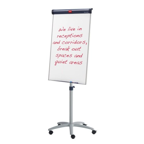 Nobo Barracuda Magnetic Mobile Flipchart Easel whiteboard