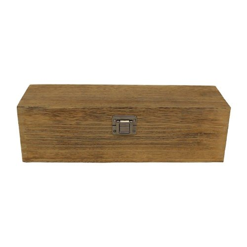 Single Bottle Oak Effect Wooden Box