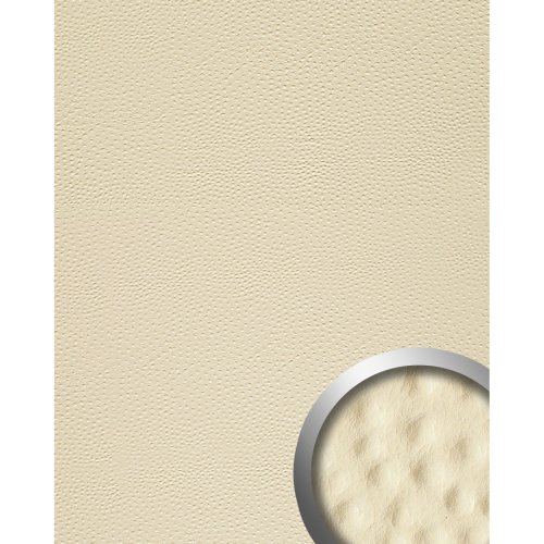 WallFace 13401 OSTRICH Wall panel leather decor self-adhesive creme | 2.60 sqm