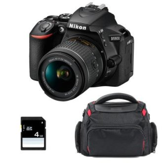 NIKON D5600 KIT AF-P 18-55MM F3.5-5.6G VR + Bag + 8gb SD card