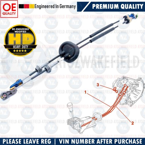 FOR PEUGEOT 308 GEAR LINKAGE CONTROL CABLE SHIFT TRANSMISSION LEVER 2444.GH