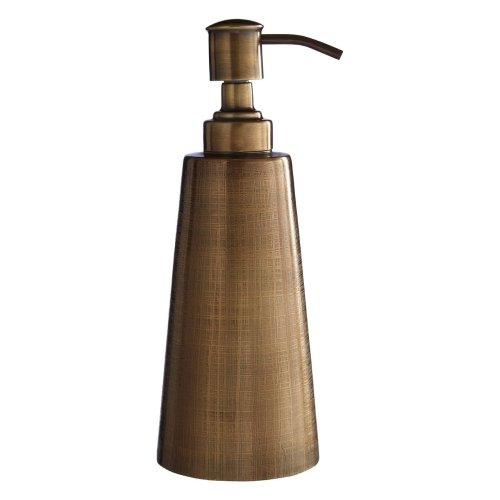 Antique Brass Finish Madison Lotion Dispenser Textured Surface, 200ml