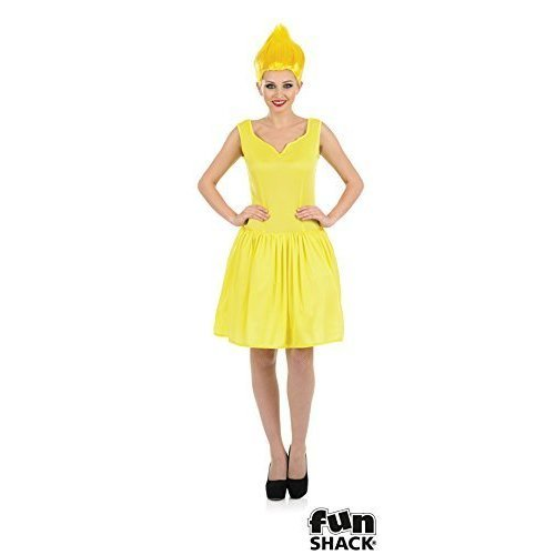 Yellow Neon Pixie - ladies costume pixie fancy dress wig troll neon womens outfit adult fairy elf  sc 1 st  OnBuy & Yellow Neon Pixie - ladies costume pixie fancy dress wig troll neon ...