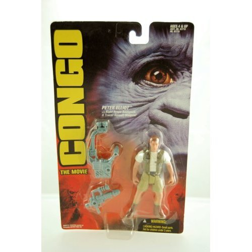 1995 - Congo The Movie - Peter Elliot Action Figure - With Night Scope Backpack &amp Tracer Assault Weapon - Limited Edition - Mint - Collectible