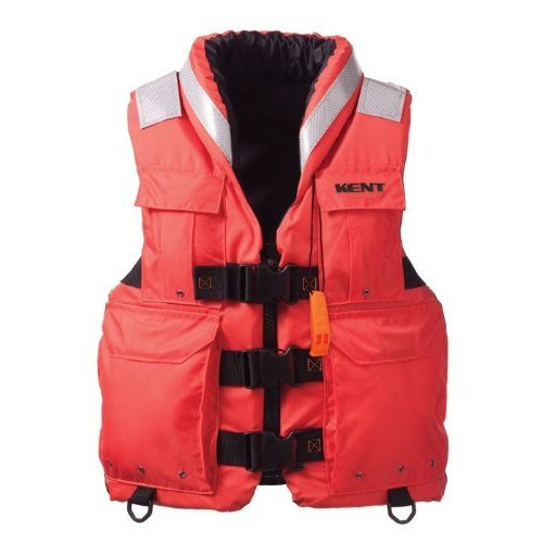 Kent Sar- Search and Rescue Commercial Life Vest - Persons over 90-Pounds (Orange, X-Large, 44-48-Inch Chest)
