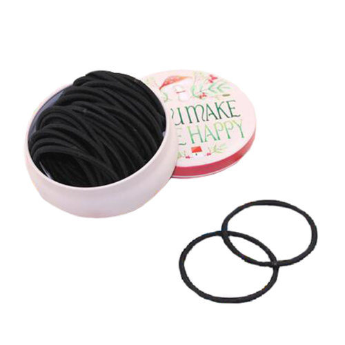 Womens Hair Elastics Thick Hair Ties Ponytail Holders, Black, 35 Count?#B