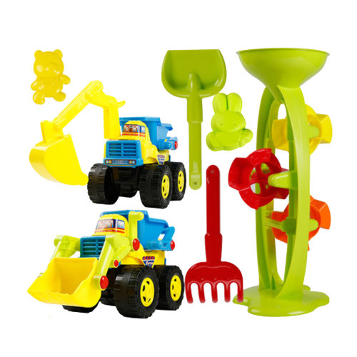 7 Piece Beach sand Toy Set, Bucket, Shovels, Rakes,Perfect for Holding Childrens' Toys#E