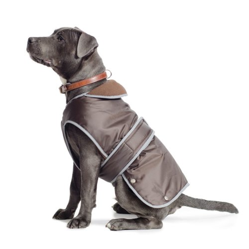 Muddy Paws Stormguard Fleece Lined Coat & Chest Protector Chocolate Xxlarge