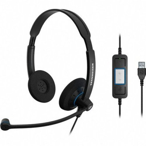 Sennheiser SC 60 USB CTRL USB Binaural Head-band Black headset
