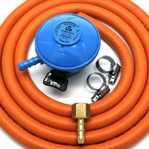 Cavagna 20Mm Butane Gas Regulator Replacement Hose Kit For Uk Cadac Lp Models