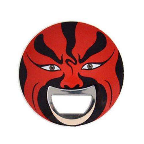 Beijing Opera Facial Masks Bottle Opener, Red