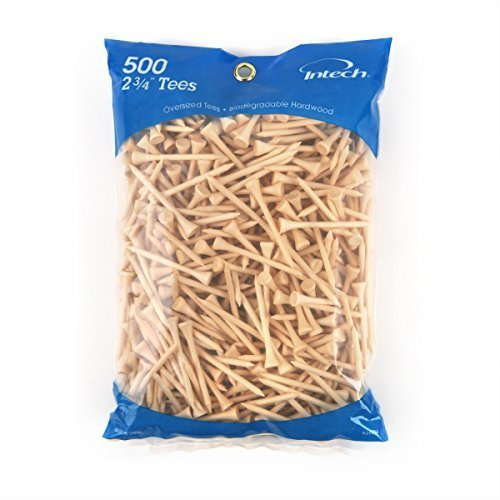 Intech 500 Pack 2 3 4 Inch Natural Tees