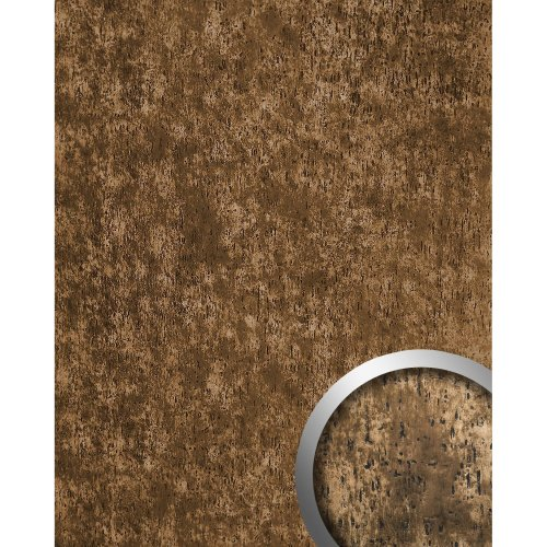 WallFace 17233 IMPACT Wall panel self-adhesive Shabby Chic bronze brown 2.6 sqm