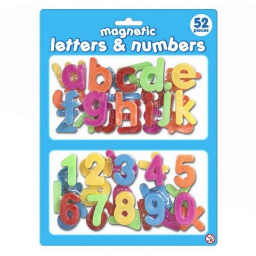 Magnetic 52 Piece Plastic Letters and Numbers