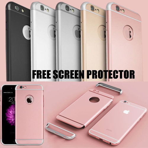 Luxury Armor Case Matte 3 In 1 Design Phone Cover Ultra Thin Back Protection + Screen Protector For Apple iPhone X XS XR XS Max 8 Plus 7 6 6s Se 5s 5