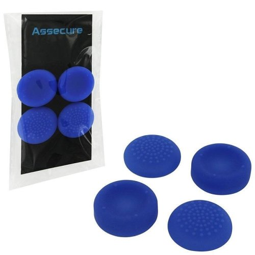 Assecure PS4 Silicone Thumb Grips: Concave and Convex - Blue