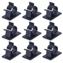 eBoot Adjustable Cable Clips Adhesive Nylon Wire Clamps, Black, 50 Pack