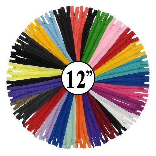 KGS 12 Inch Nylon Zipper #3 | Unique Colors | 20 Zippers/Pack