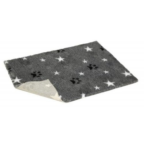 Non-slip Vetbed Mottled Grey With Stars & Paws Half Roll 10mtr