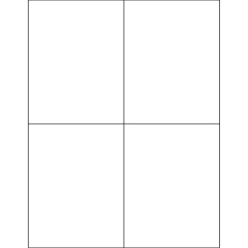 Box Partners LL131 4.25 x 5.5 in. White Rectangle Laser Labels - Pack of 400