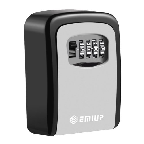 Key Lock Box, EMIUP [Wall Mounted] Key Safe Box Used For Key Storage And Management In Homes, Offices, Factories, Construction Site.Ultra Tough 4...