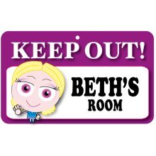 Keep Out Door Sign - Beth's Room