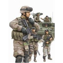 Tru00424 - Trumpeter 1:35 - Modern Us Arm Y Armour Crew and Infantry Set