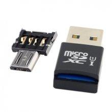 Mini Size USB 3.0 to Micro SD SDXC TF Card Reader MicroUSB OTG Adapter