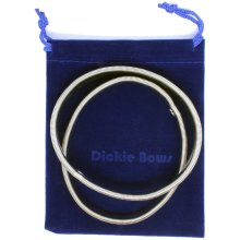 Dickie Bows Silver Expandable Shirt Armbands with Pouch