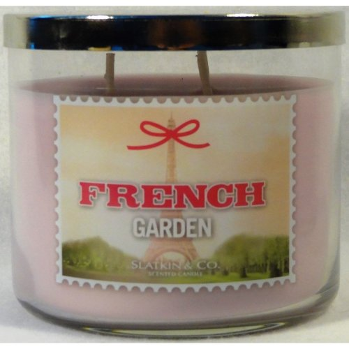 Bath and Body Works New French Garden Scented Candle 14.5 Oz Three Wick