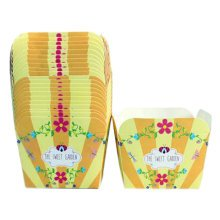100PCS Lovely Square Baking Paper Cups Cupcakes Cases Cake Cup, Yellow
