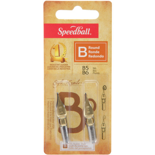 Speedball Calligraphy Pen Nibs 2/Pkg-B5 & B6