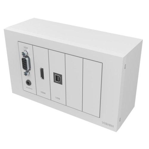 Vision 3M CABLE PACKAGE - White, Installation-grade cables. Includes: 1 x VGA, 1 x 3.5mm Minijack, 1 x HDMI