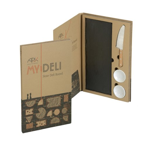 Arthur Price My Deli Slate Serving Board with Dip Dishes
