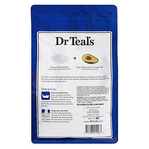 Dr Teals Ultra Moisturizing Mineral Soak Super Moisturizer with Avocado Oil 3 Pound