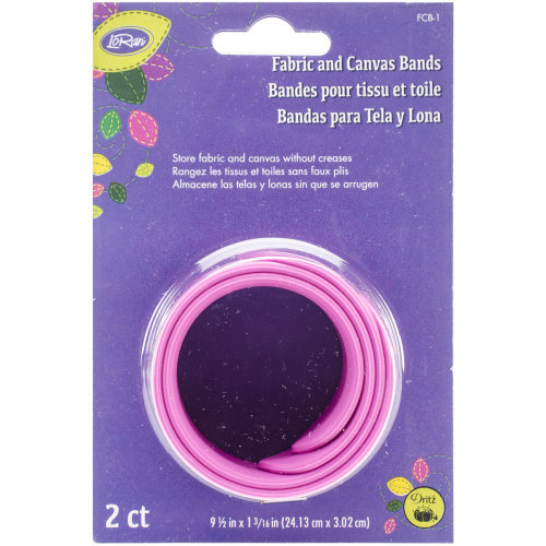 "LoRan Fabric & Canvas Silicone Bands 2/Pkg-9.5""X1.125"""