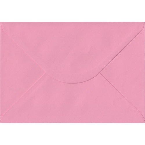 Pastel Pink Gummed C5/A5 Coloured Pink Envelopes. 100gsm FSC Sustainable Paper. 162mm x 229mm. Banker Style Envelope.