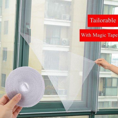 2Pcs/Set DIY Door Window Gauze Mesh Netting Insect Fly Bug Screen Curtain Mosquitoes Net Protector