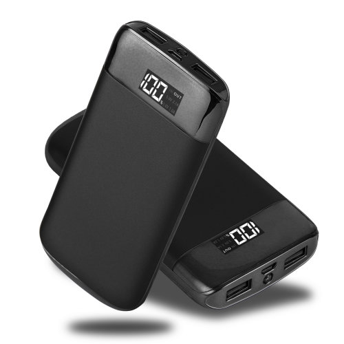ARIO®20000mAh PowerBank fast charging for all mobile phones (Black)
