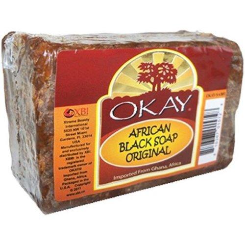 OKAY African Black Soap, 217 g - 8 oz