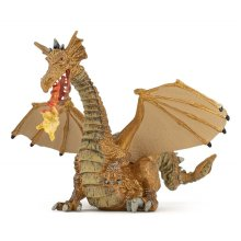 Papo Gold Dragon With Flame - New Figure Toys 39095 Fantasy -  papo dragon gold new flame figure toys 39095 fantasy