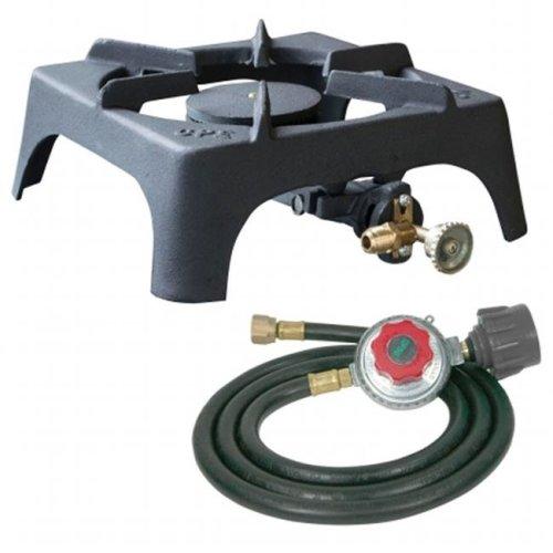 Sportsman Series SBCISHDKIT Single Burner Cast Iron Stove with Regulator Hose