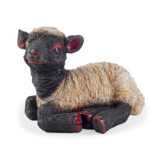 Flame the Realistic Resin Laying Black Lamb Garden Ornament