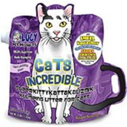 Lucy Pet Products 850657006302 Cats Incredible Superkittykattakalizmik Klumping Litter - Lavender