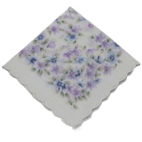 3 Pcs Retro Floral Print Handkerchiefs Ladies Cotton Pocket Handkerchief, #23